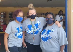 Photo of Ms. Caine, Ms. Wendt and Ms. Driskell